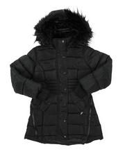 Girls - Long Puffer Jacket (7-16)-2409058