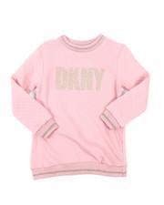 Girls - Pop Over Sweatshirt W/Quilt & Lurex Rib Trim (7-16)-2408336