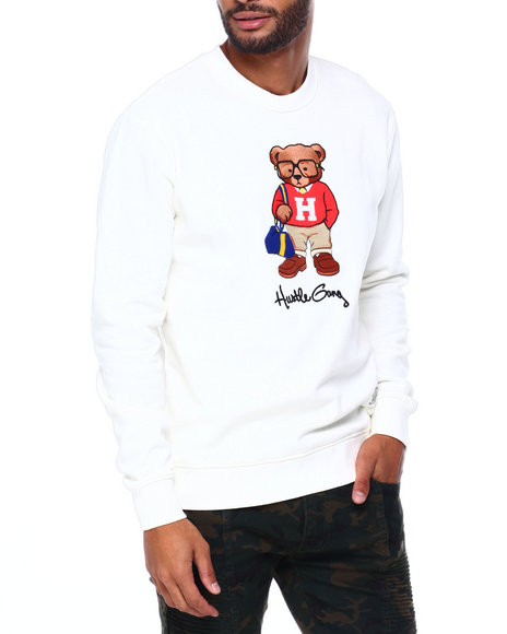 Hustle Gang - hustle bear crew sweatshirt