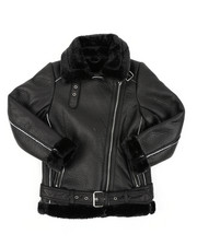 Sizes 8-20 - Big Kids - Faux Shearling Aviator Jacket (8-20)-2409571