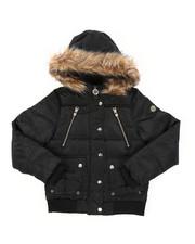 Girls - Rib Bottom Puffer Jacket (7-16)-2409400