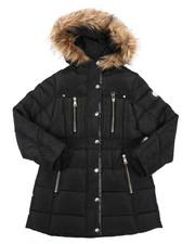 Girls - Long Puffer Jacket (7-16)-2409700