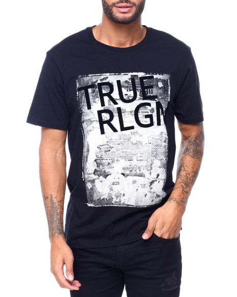 True Religion - SS NEWSPAPER TR BRANDED TEE