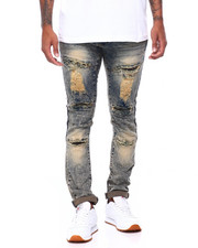 Men - WASHED RIPPED SLIM STRAIGHT JEAN-2408104