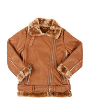 Sizes 8-20 - Big Kids - Faux Shearling Aviator Jacket (8-20)-2409604