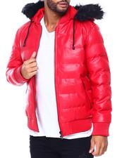 PU  Puffer Jacket w Hood by Robert Phillipe