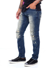 SMOKE RISE - SLIM RIPPED JEAN GRIFFIN WASH-2410218
