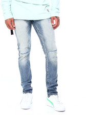 Men - Distressed Indigo Jean-2408635