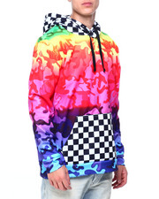 Men - Camo and Checkerboard Hoodie-2408758