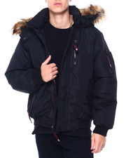 Heavy Coats - CANADA WEATHER Faux Fur Hooded Bomber Jacke-2411177