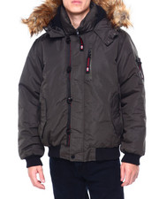 Black Friday Deals - CANADA WEATHER Faux Fur Hooded Bomber Jacke-2411104