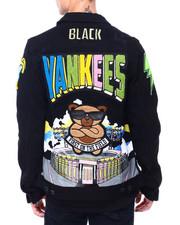 Denim Jackets - Stalls X Dean Black Yankees Denim Jacket-2411288