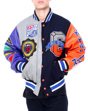 SMOKE RISE - VARSITY COLORBLOCK JACKET-2408811