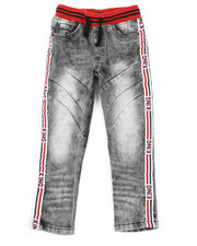 Arcade Styles - Pull On Rib Jeans W/ Taping Detail (4-7)-2410753
