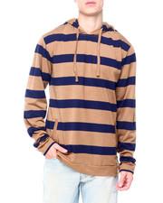 Hoodies - Horizontal Stripe Hoodie-2411052