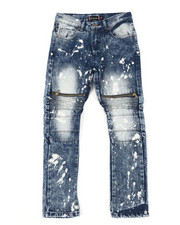 Sizes 8-20 - Big Kids - Cut Knee Zip Jeans (8-18)-2410759