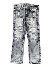 Arcade Styles - Stretch Moto Denim Jeans W/ Cut & Sew Knee Panels (4-7)-2411212