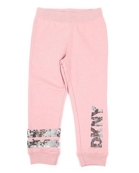 DKNY Jeans - Flip Sequins DKNY Logo Jogger Pants (4-6X)