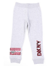 Bottoms - Flip Sequins DKNY Logo Jogger Pants (4-6X)-2410816