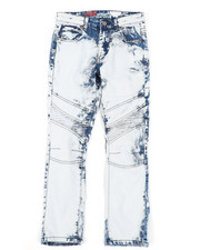 Sizes 8-20 - Big Kids - Stretch Moto Jeans (8-18)-2410771