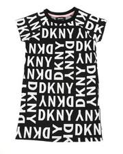 Girls - DKNY Knit Logo Dress W/ Onseam Pockets (7-16)-2410781