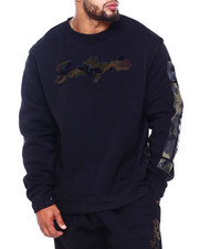 Sweatshirts & Sweaters - Fleece Crew Neck w/ Camo Chenille Patch (B&T)-2410911