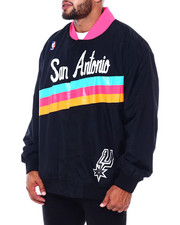 Mitchell & Ness - Spurs Authentic Warm Up Jacket (B&T)-2411013