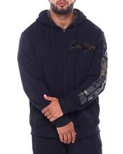 Men - Full Zip Fleece Hoodie w/ Camo Chenille Patch (B&T)-2410896