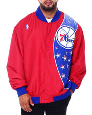 Mitchell & Ness - 76ers Authentic Warm Up Jacket (B&T)-2411000
