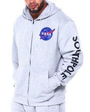 Big & Tall Faves - Full Zip Fleece Hoodie w/ EMB Patch (B&T)-2410901