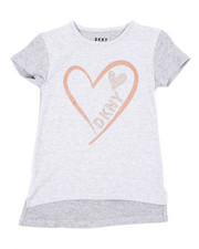 Tops - Glitter Heart DKNY Top (7-16)-2410801