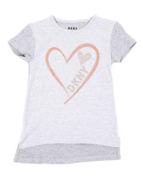 DKNY Jeans - Glitter Heart DKNY Top (7-16)