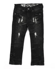 Bottoms - Rip & Repaired Stretch Denim Moto Jeans (2T-4T)-2411508