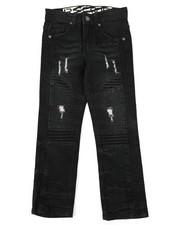 Arcade Styles - Rip & Repaired Stretch Denim Moto Jeans (4-7)-2411512