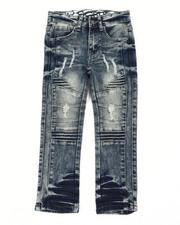Arcade Styles - Rip & Repaired Stretch Denim Moto Jeans (4-7)-2411529