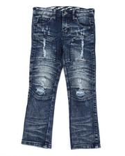Arcade Styles - Stretch Moto Denim Jeans W/ Cut & Sew Knee Panels (4-7)-2411500