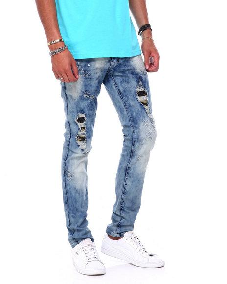 Buyers Picks - Slim Fit Patch work distressed Jean