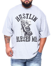 Men - Hustle Blessed Me S/S Tee (B&T)-2409109