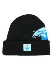 Pink Dolphin - Waves Vintage Beanie-2412291