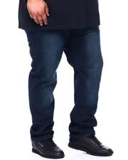 Men - Men's Straight Fit Sand Blast Washed Jeans (B&T)-2400857