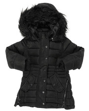 Outerwear - Long Puffer Jacket (4-6X)-2409068