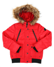 Outerwear - Rib Bottom Puffer Jacket (7-16)-2409709