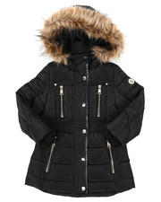 Outerwear - Long Puffer Jacket (4-6X)-2409105