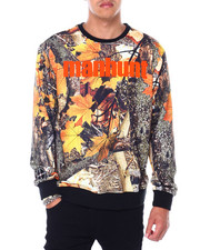 Mens-Fall - ManHunt Tree Camo Crewneck Sweatshirt-2412394