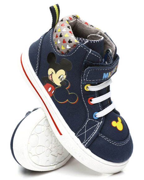 Arcade Styles - Mickey Mouse High Top Canvas Sneakers (5-12)