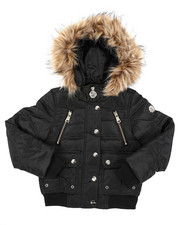 Outerwear - Rib Bottom Puffer Jacket (4-6X)-2409392