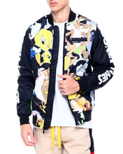 Members Only - LOONEY TUNES MASH UP PRINT BOMBER-2413087