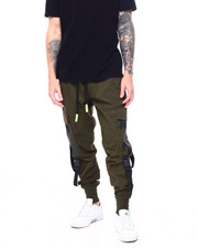 SWITCH - Twill Jogger w Buckle Strap-2413334