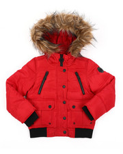 Outerwear - Rib Bottom Puffer Jacket (4-6X)-2409396