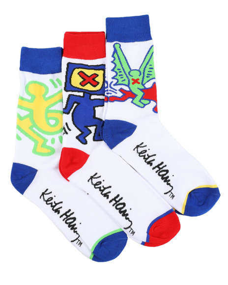 Keith Haring - 3 Pack Icons Crew Socks